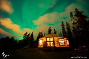 Luxury Yurt in the Yukon. © Rachid Dahnoun