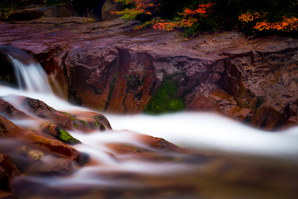 Silky water and fall colors; Patagonia, Argentina. © Joseph Roybal