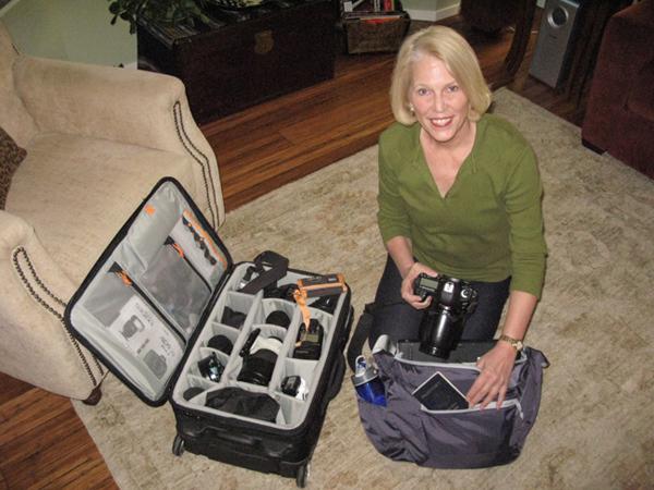 Michele with Gear. © Sandy Jeglum