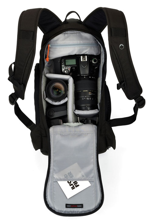 Example of fully packed interior. © Lowepro