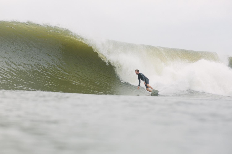 Surfer during Hurricane Hermine
