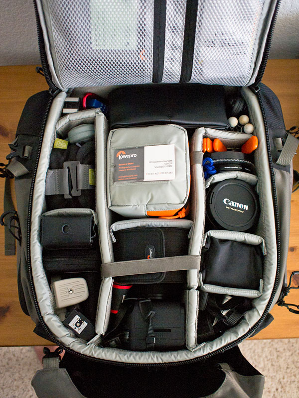 Inside view of the Pro Trekker 300 fully loaded.