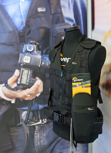 Shown here is the technical vest with belt and one of the many pouches.