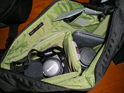 A look inside Natalie's Passport Sling. Photo by Natalie Andes.