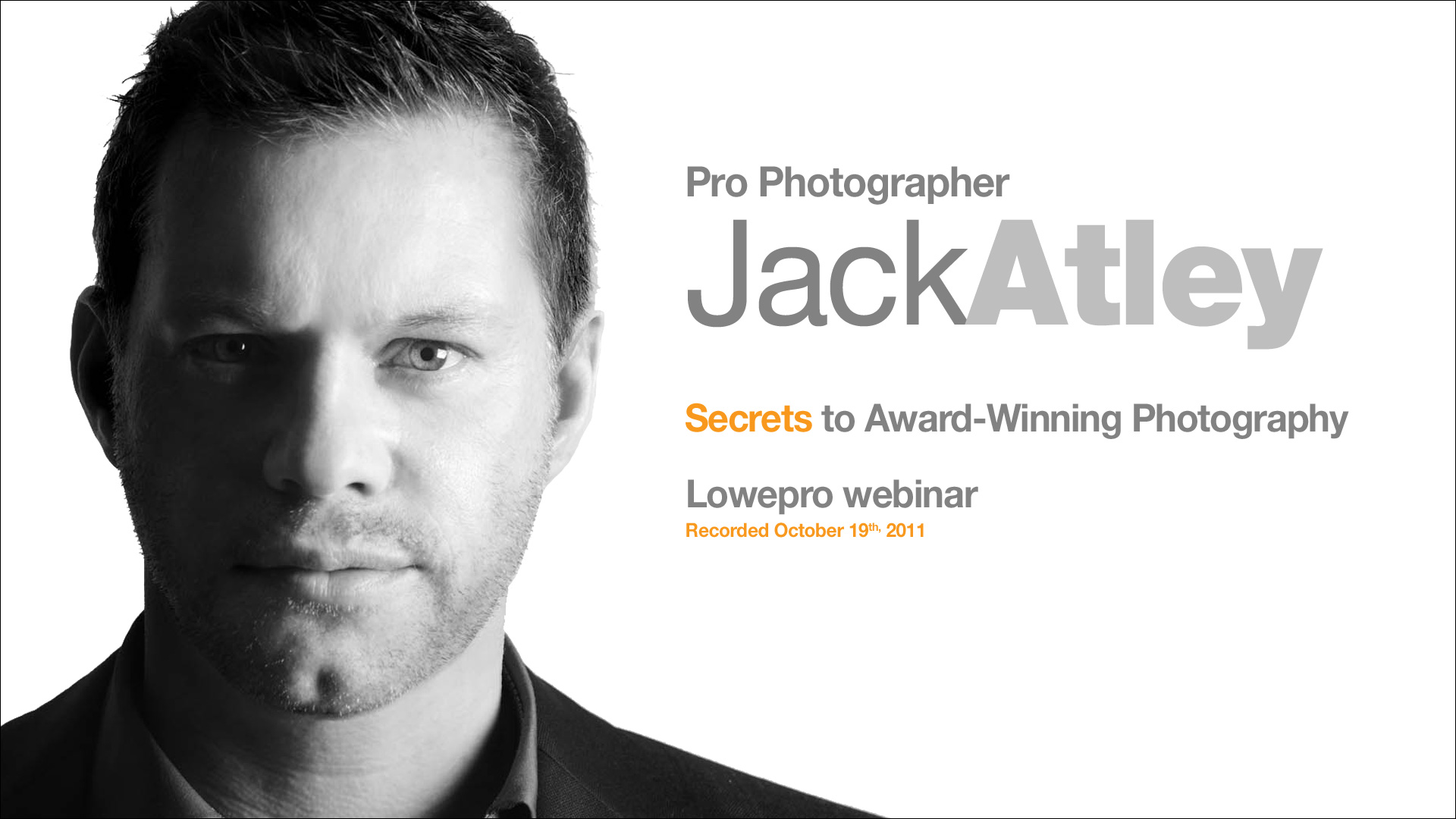 Sign Up for Our Jack Atley Webinar