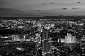 Black & White image of Las Vegas from Derrick Story webinar. © Derrick Story