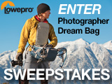 Winners! Lowepro Photographer Dream Bag Sweepstakes
