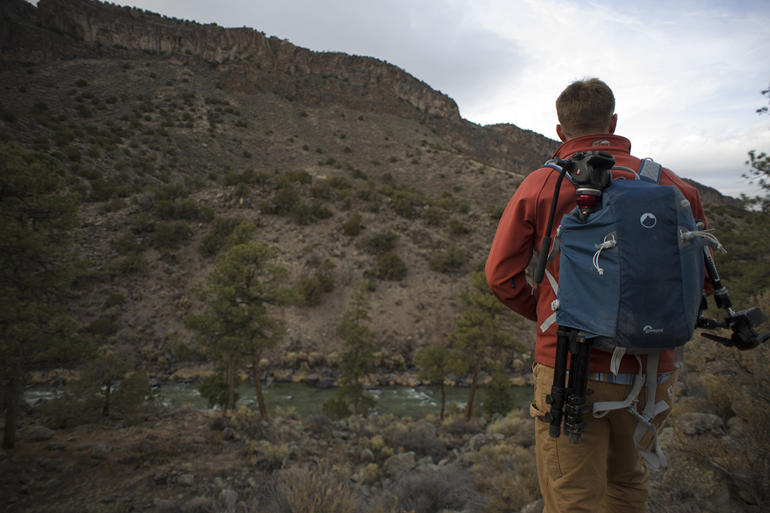 Powerful imagery, the Rio Grande del Norte & a backcountry pack