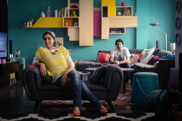 Dalia El Shimi, Graphic Artist. Amr Alim, Architect & Interior Designer. © Nour El Refai