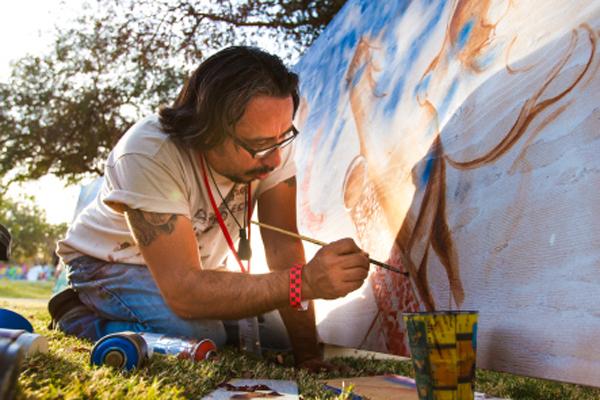 Artist Hugo Medina. © Kaard Bombe