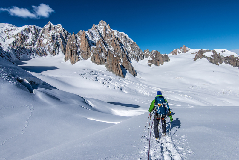 Glacier Geant on the Italian side of Mont Blanc Massif. © Kamil Tamiola and Lumi Toma