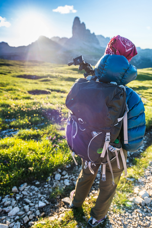 A hike in the Dolomites with a Photo Sport Pro 30L AW. © Kamil Tamiola and Lumi Toma